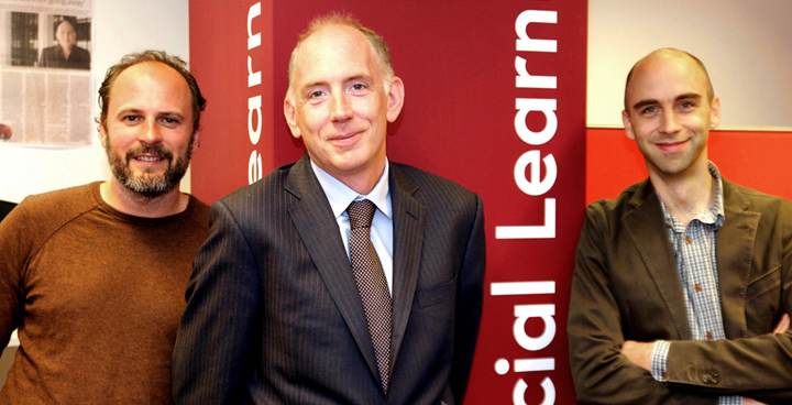 Justin and Matthew with FutureLearn CEO, Simon Nelson