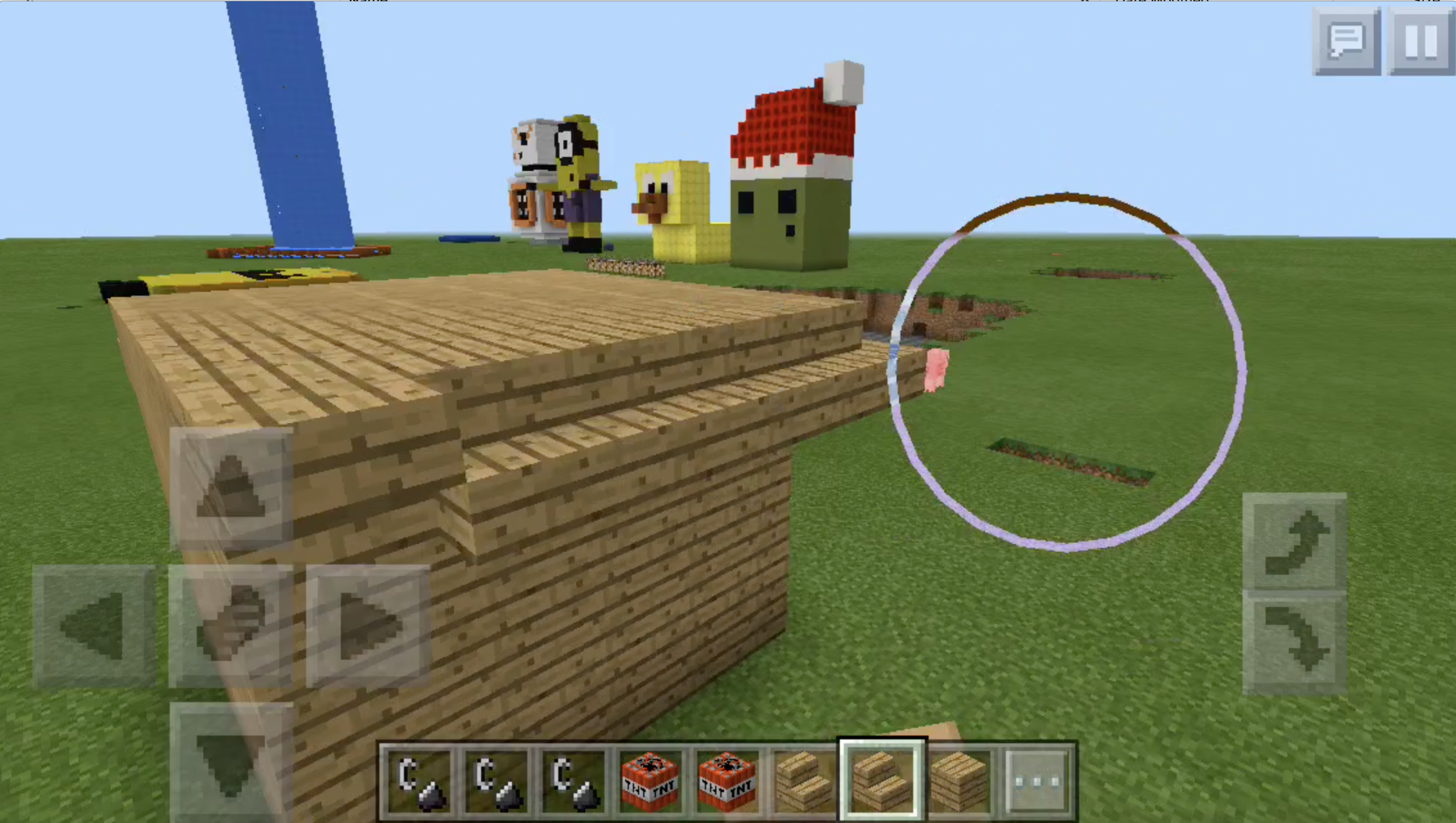 In Minecraft, kids can create characters and build worlds with friends
